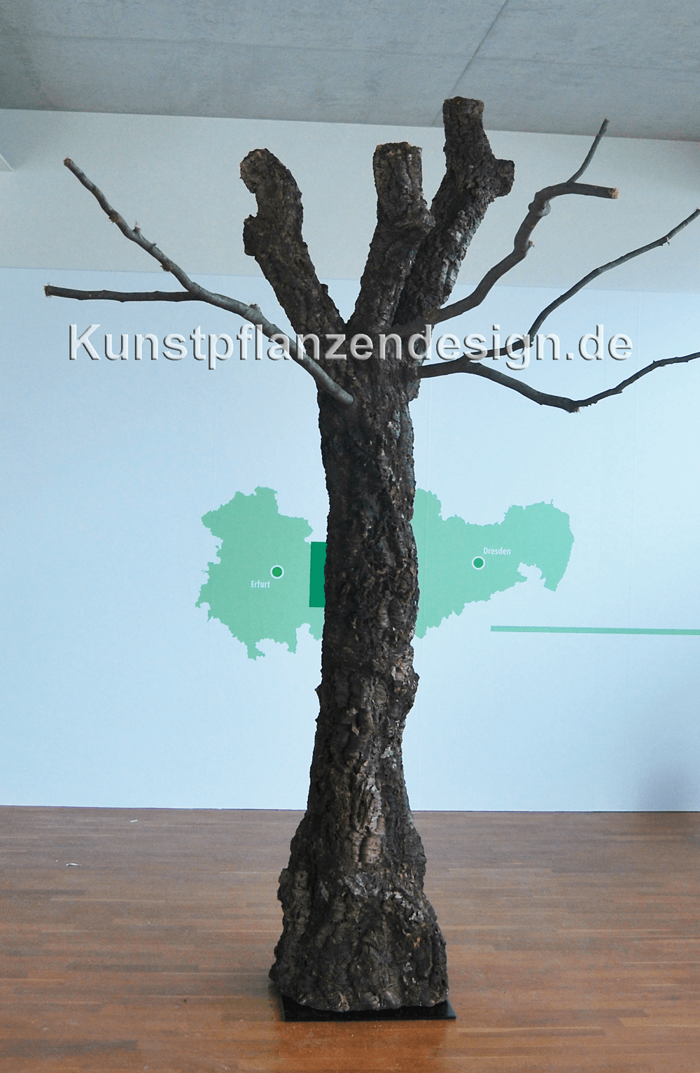 naturnahe baumstäme aus naturrinde - liana - kunstpflanzen